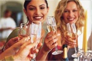 Champagne med mat