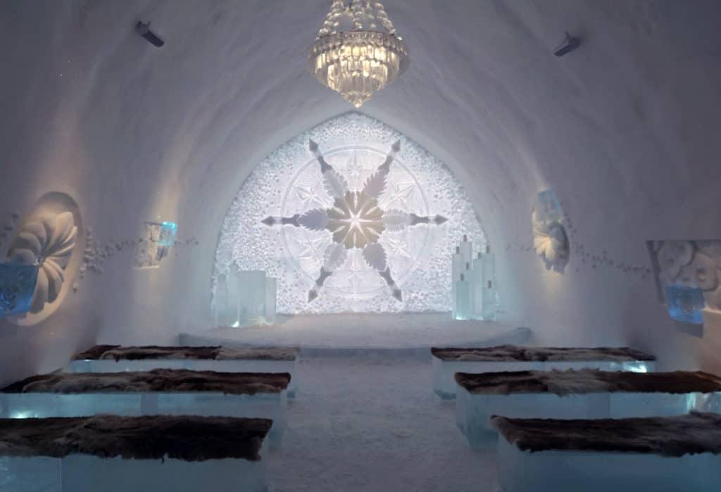 Iskyrkan på Ishotellet Jukkasjärvi