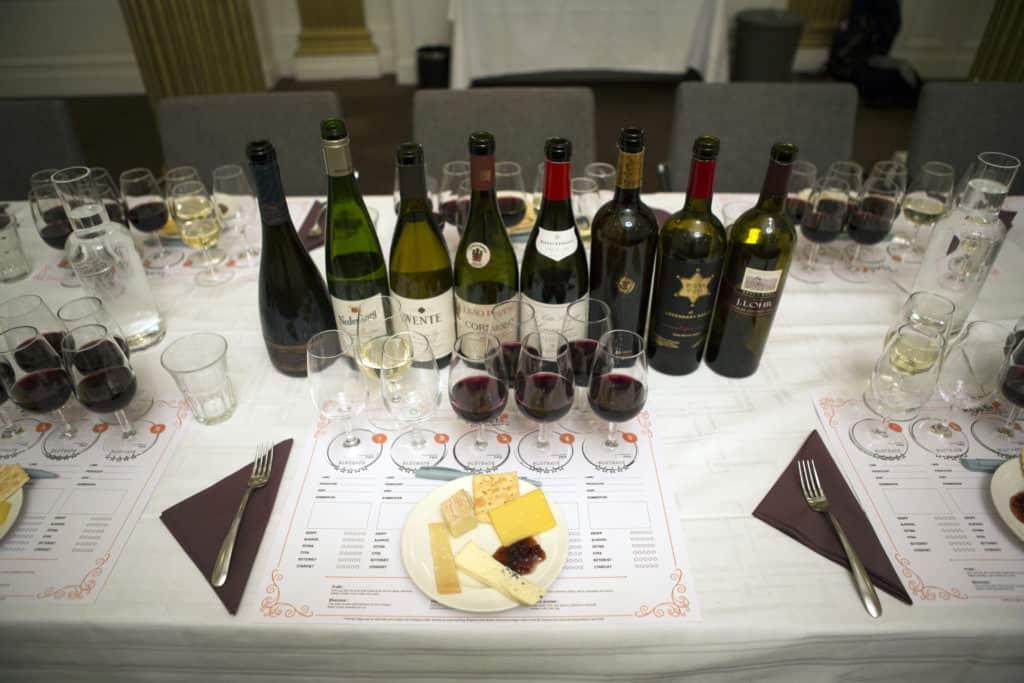 Viner från en bra vinprovning taysta