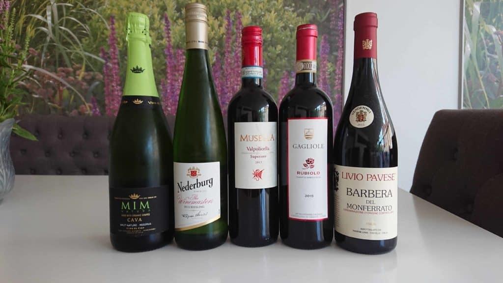Västerås fem viner till vinprovningen